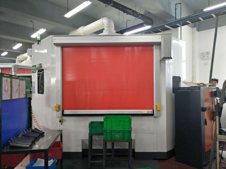 定做机器人工作站安全快速门 焊房卷帘门 激光防护高速卷门